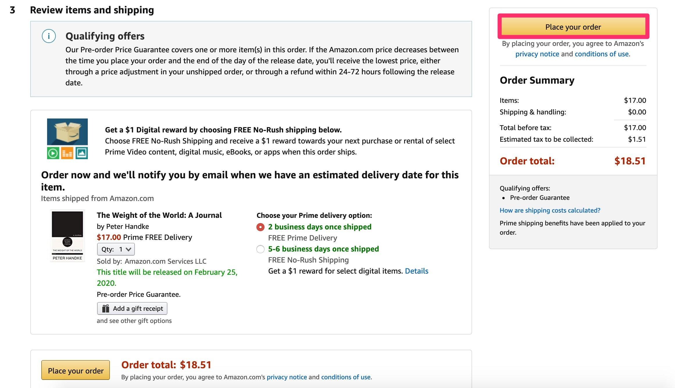 How do Amazon pre orders work