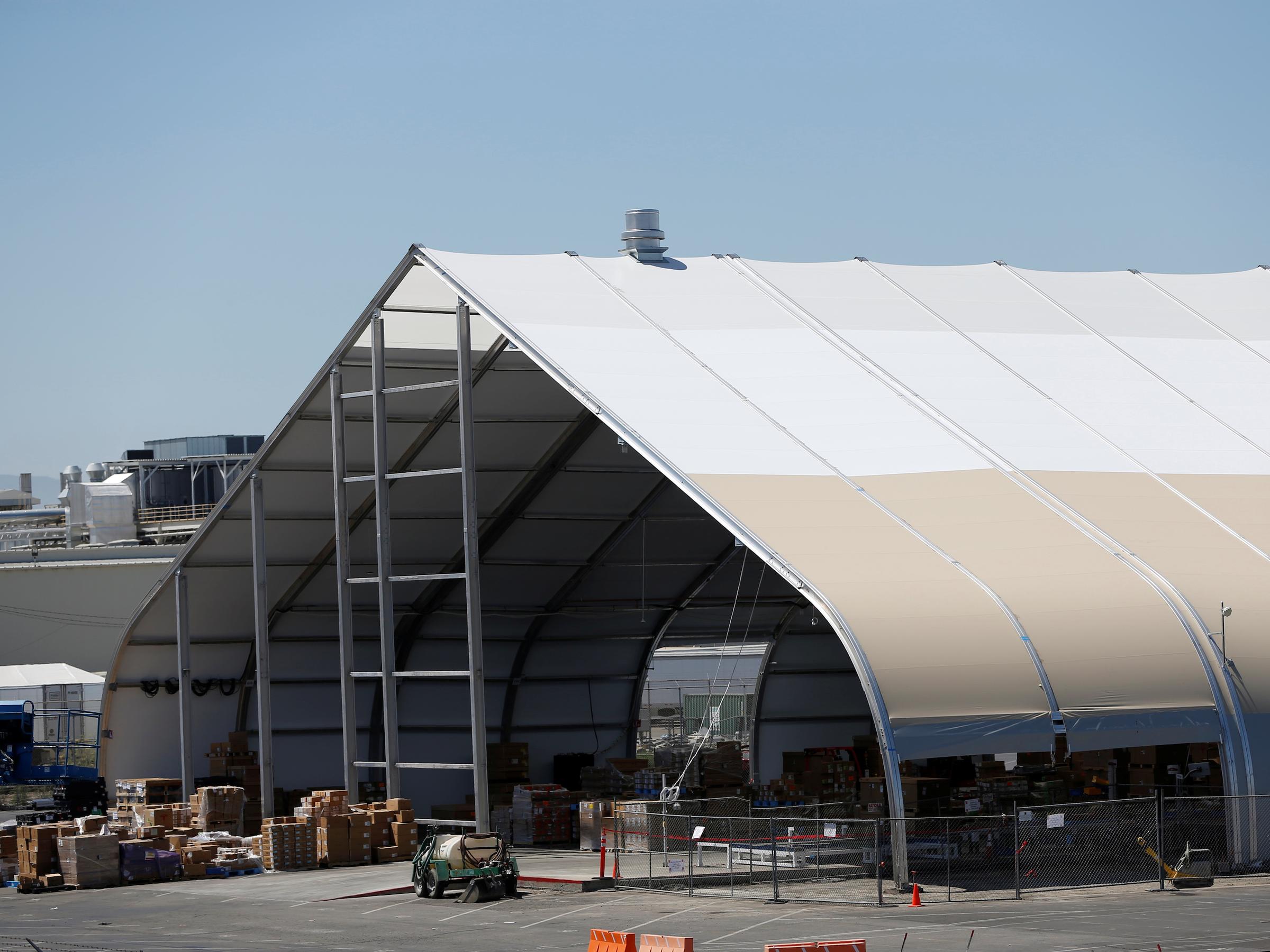 Tesla Fremont tent