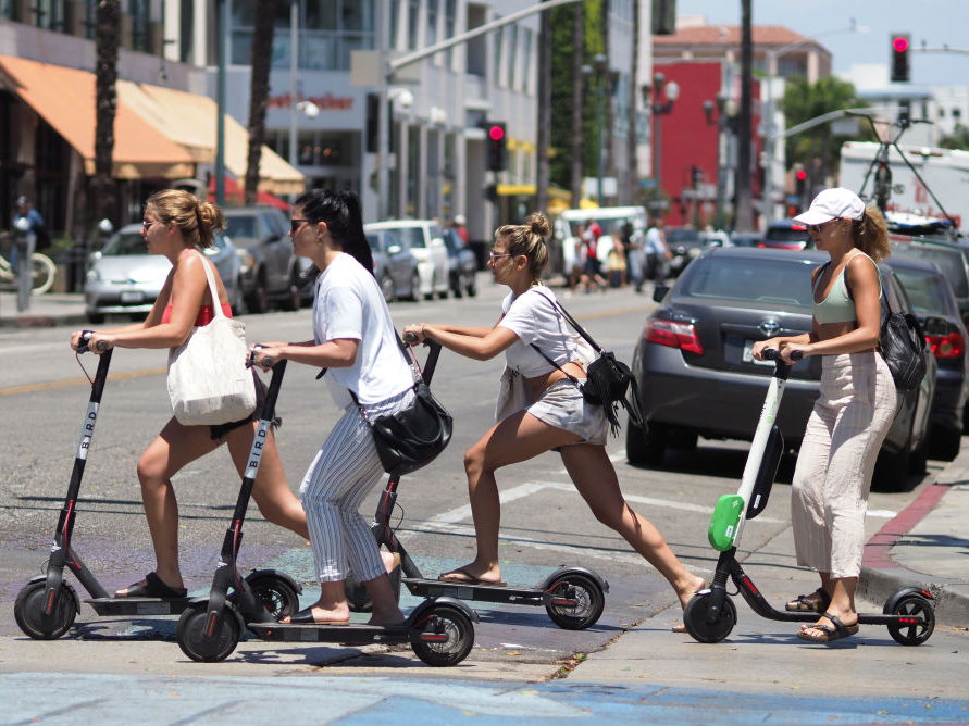 bird scooter riders