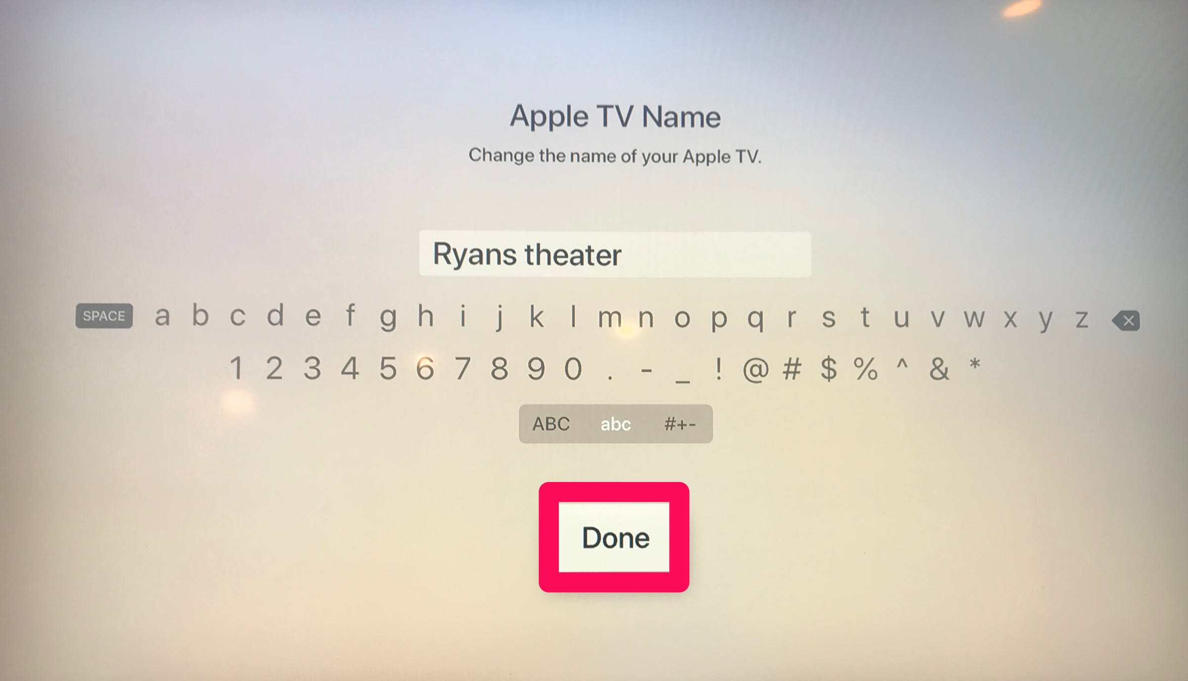 How to rename Apple TV
