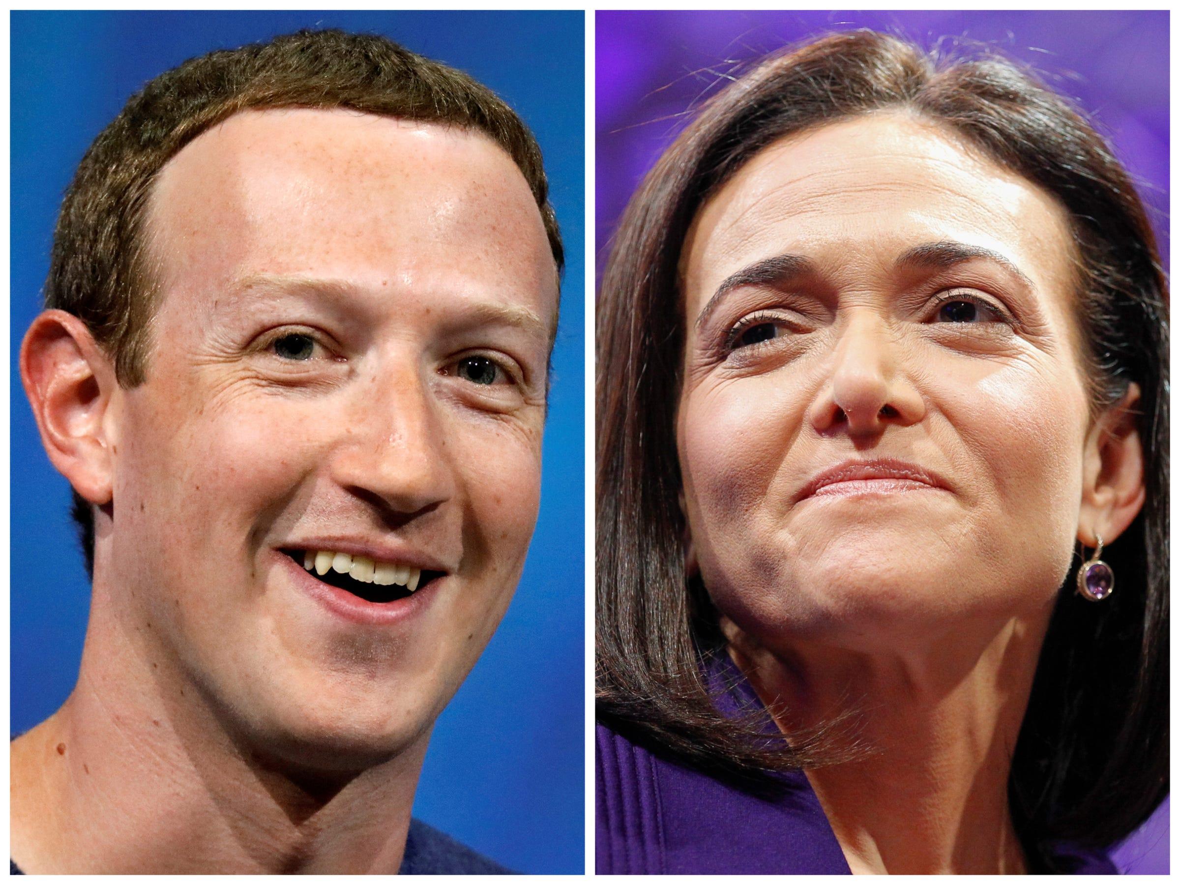 Mark Zuckerberg Sheryl Sandberg