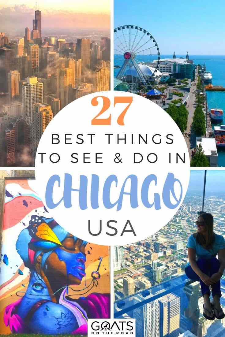 highlights of Chicago with text overlay 27 best things to do