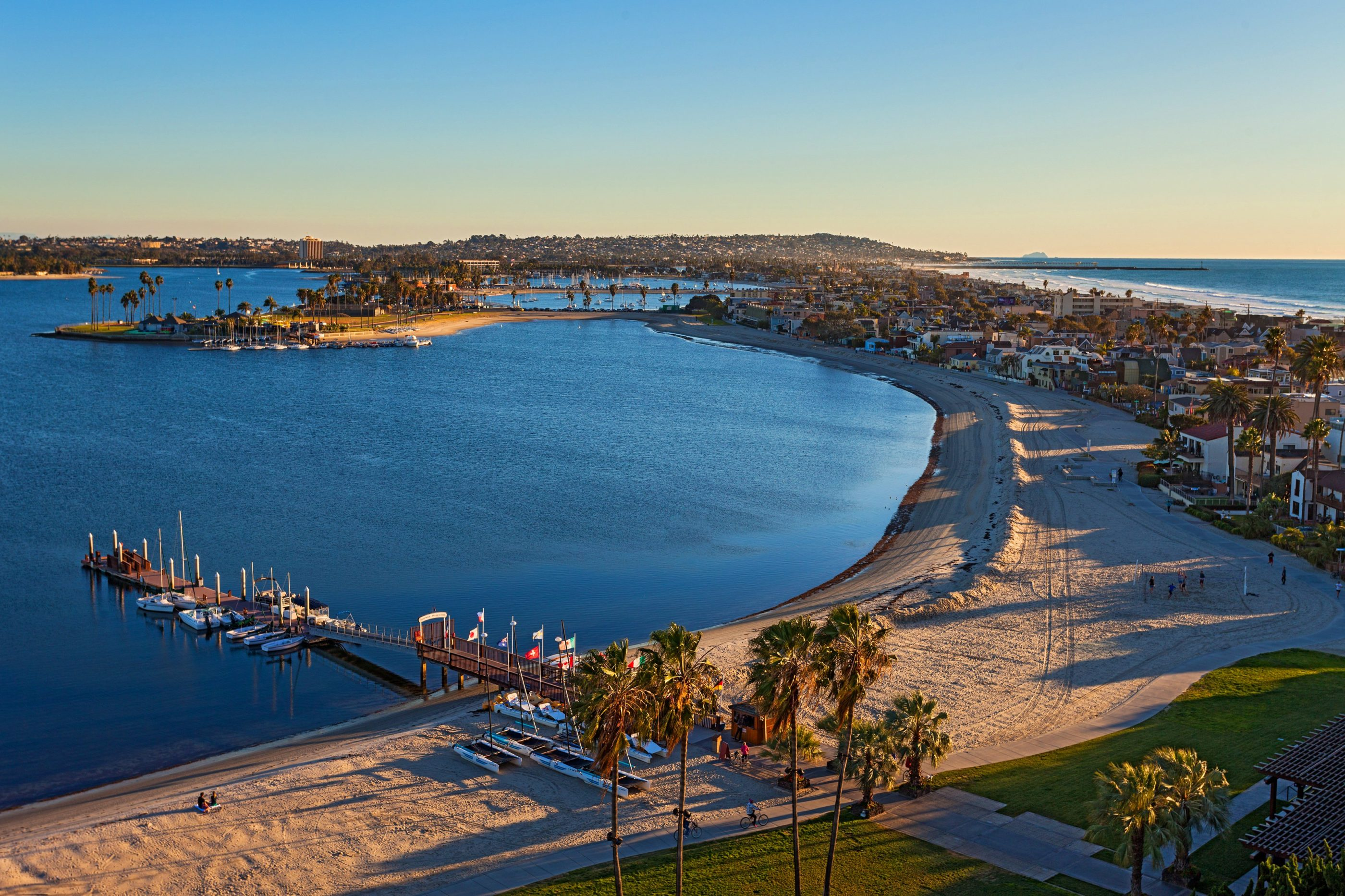View of Mission Bay from Tower at Catamaran Resort Hotel and Spa in San Diego