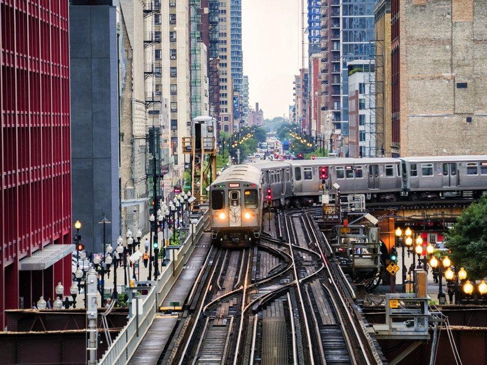 chicago elevated rail line