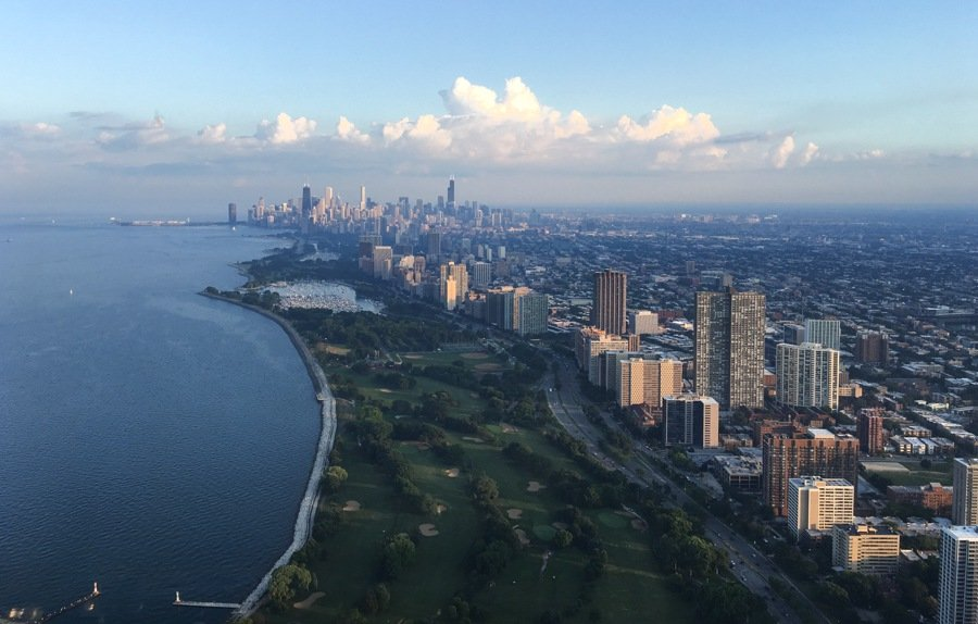 riding in a helicopter over the city of chicago is one of the top things to do in chicago
