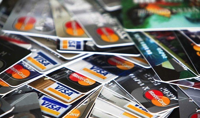 Lots and lots of credit cards in a pile