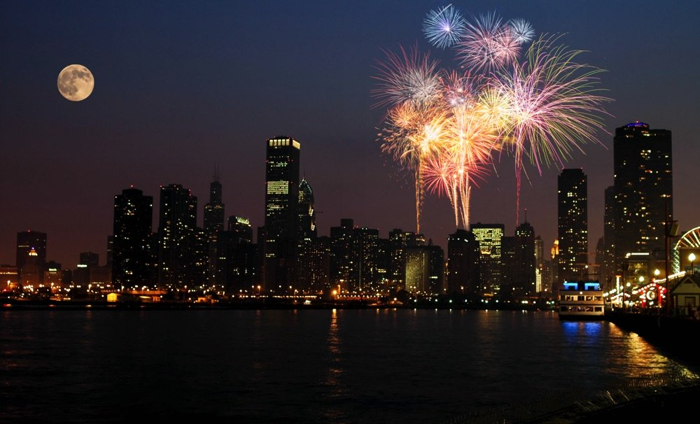 fireworks show in chicago