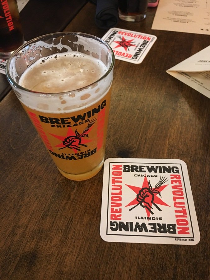 having craft beer at revolution brewery is one of the top things to do in chicago
