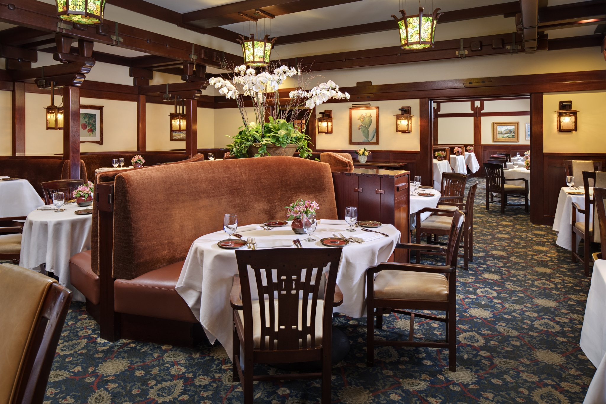 A.R. Valentien interior, the signature restaurant of The Lodge at Torrey Pines